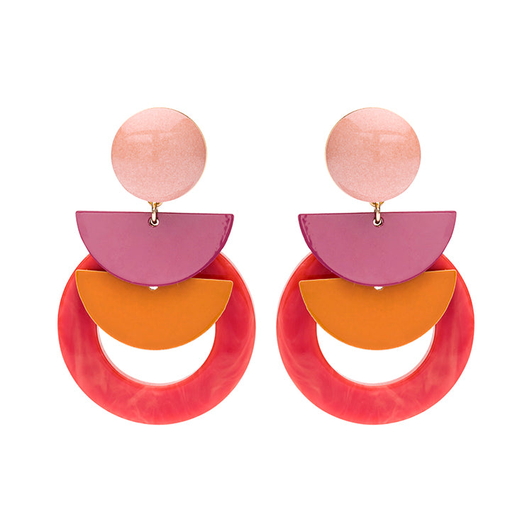 Sonia peach statement earring