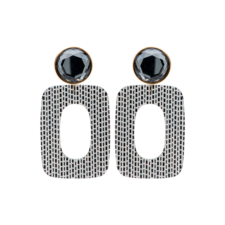 Mary small antra stripes earring - Souvenirs de Pomme