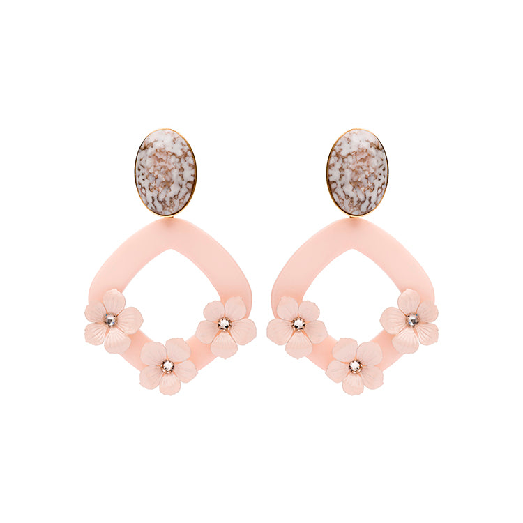 Lucia statement nude earrings