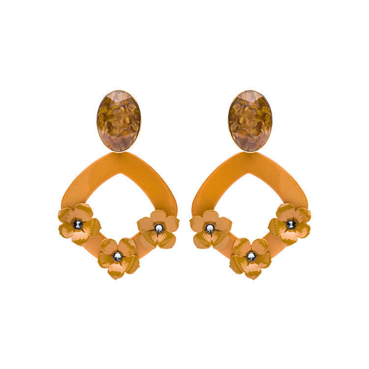 Lucia statement cognac earrings