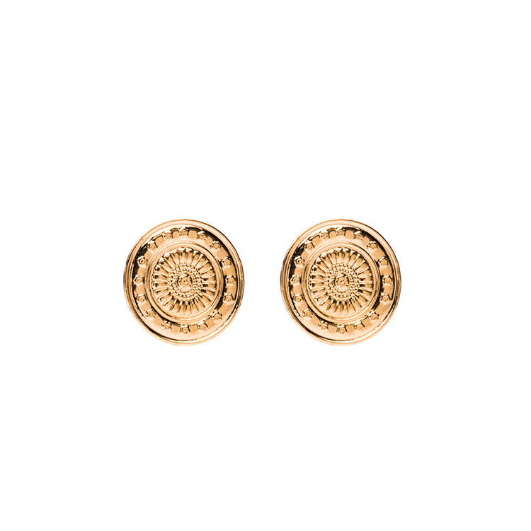 Coin shortie coin gold earring