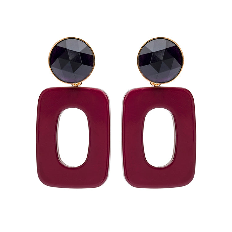 Mary small marsala earring
