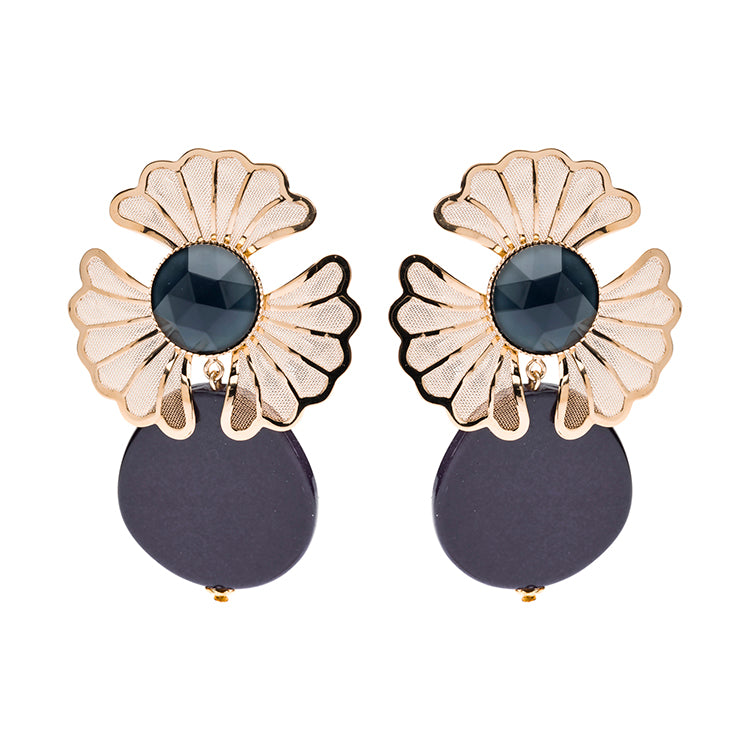 Mia statement earrings navy