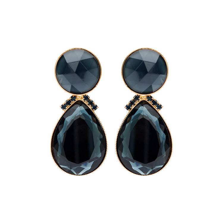 2 drops earring navy