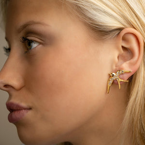 Lucky birdie earrings