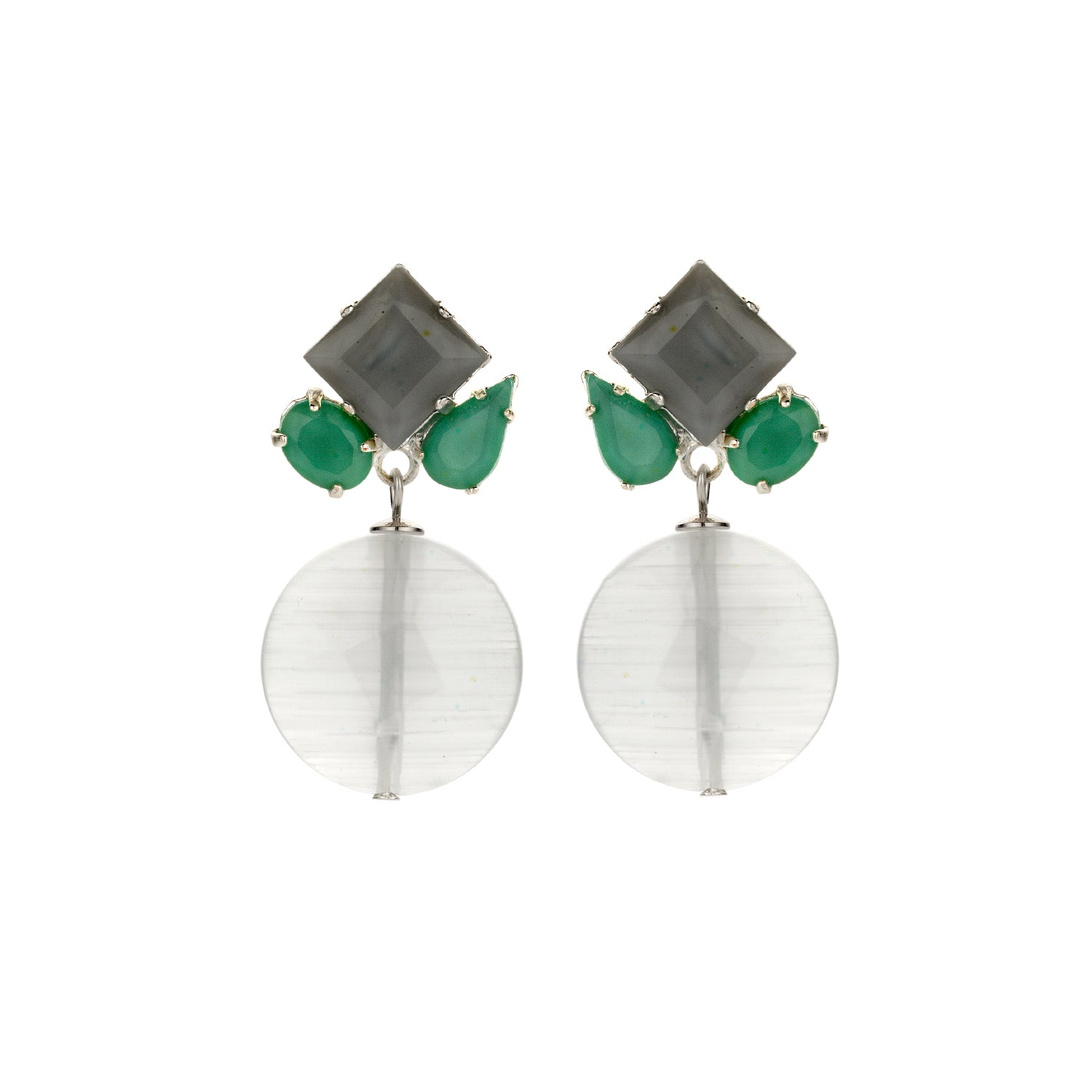 Square mix ice earrings - Souvenirs de Pomme