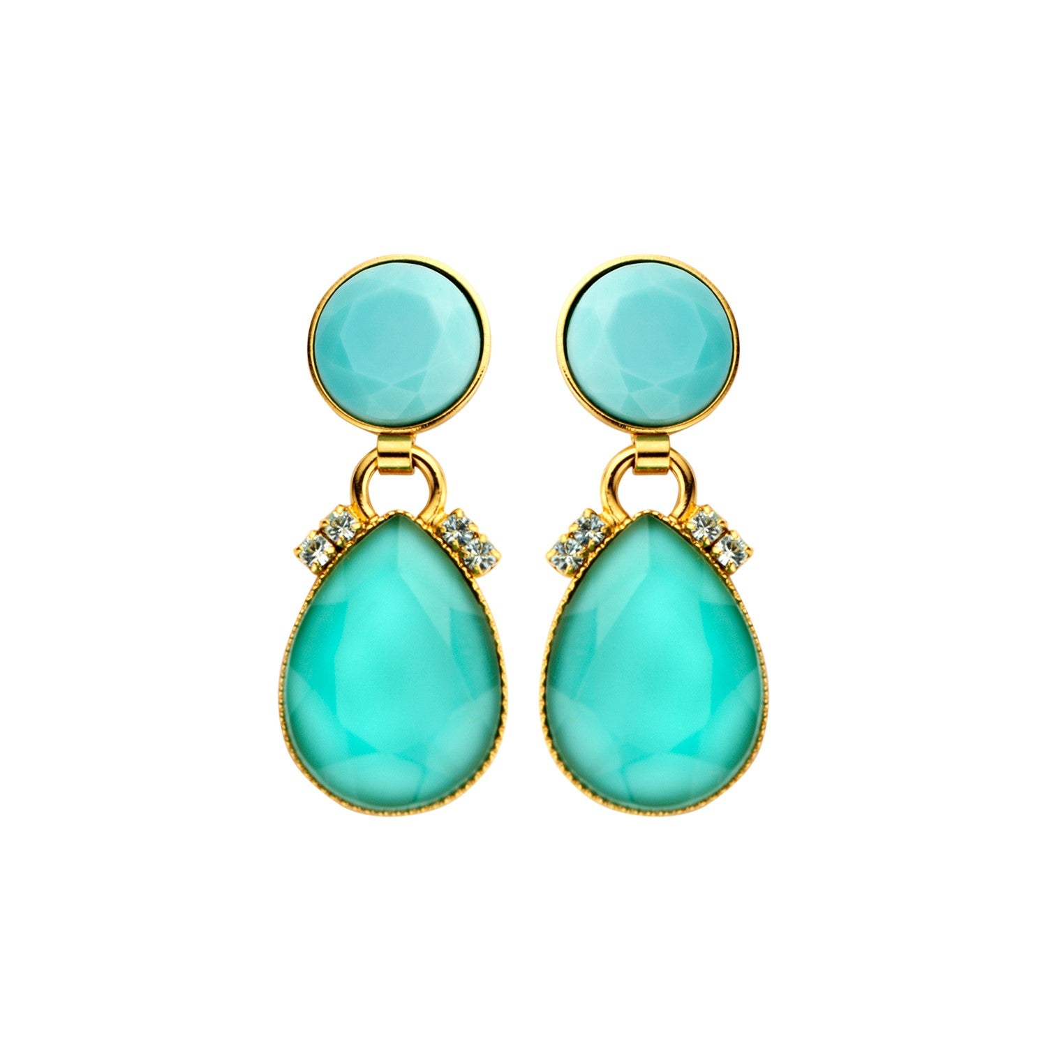 Mini 2drops mint earrings - Souvenirs de Pomme