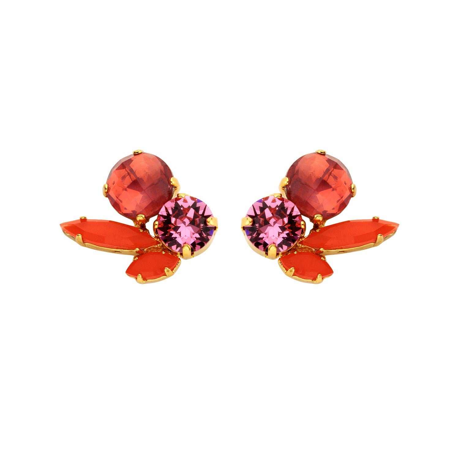Cleo short peach earrings - Souvenirs de Pomme