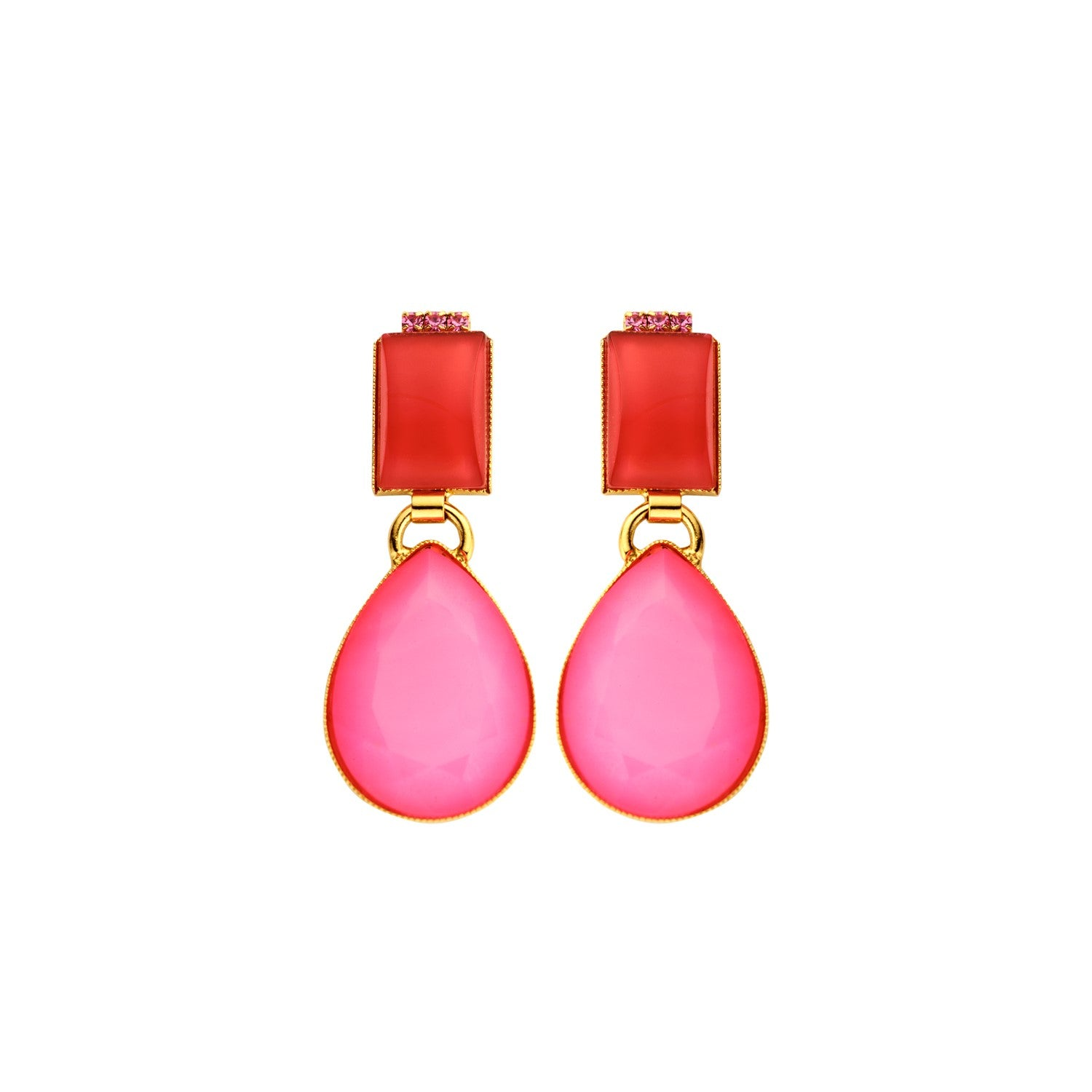 Playa neon fuchsia earrings - Souvenirs de Pomme