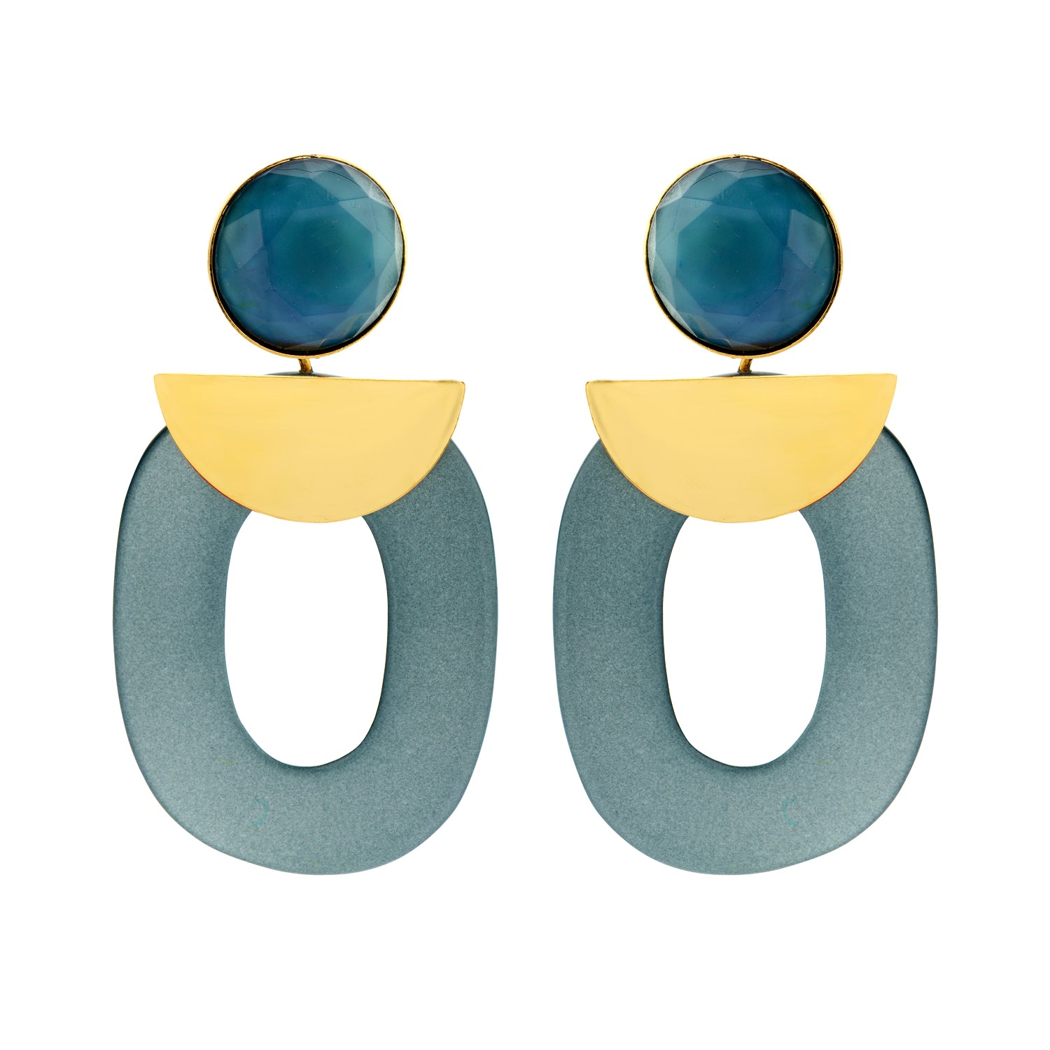 Mary large jeans earrings