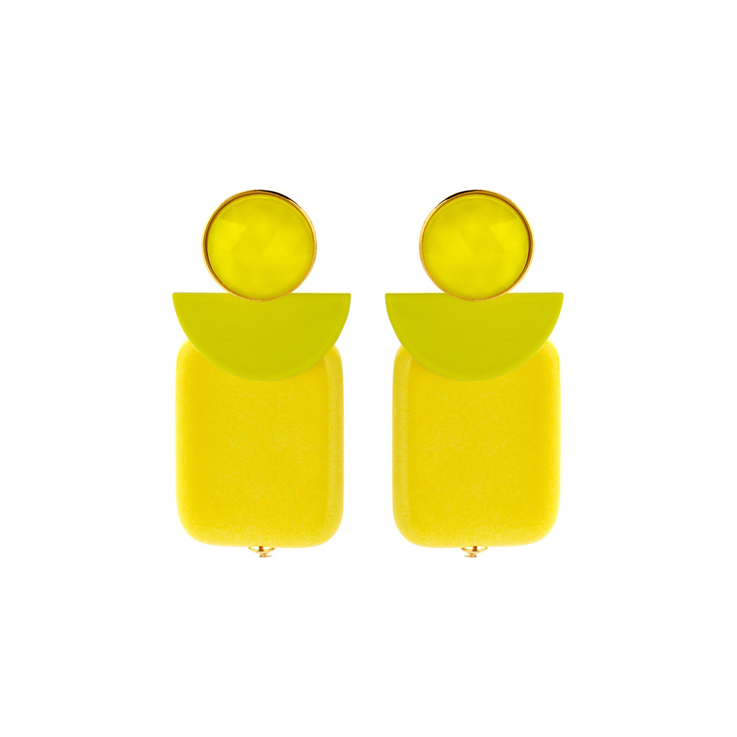 Attina moon yellow earrings - Souvenirs de Pomme