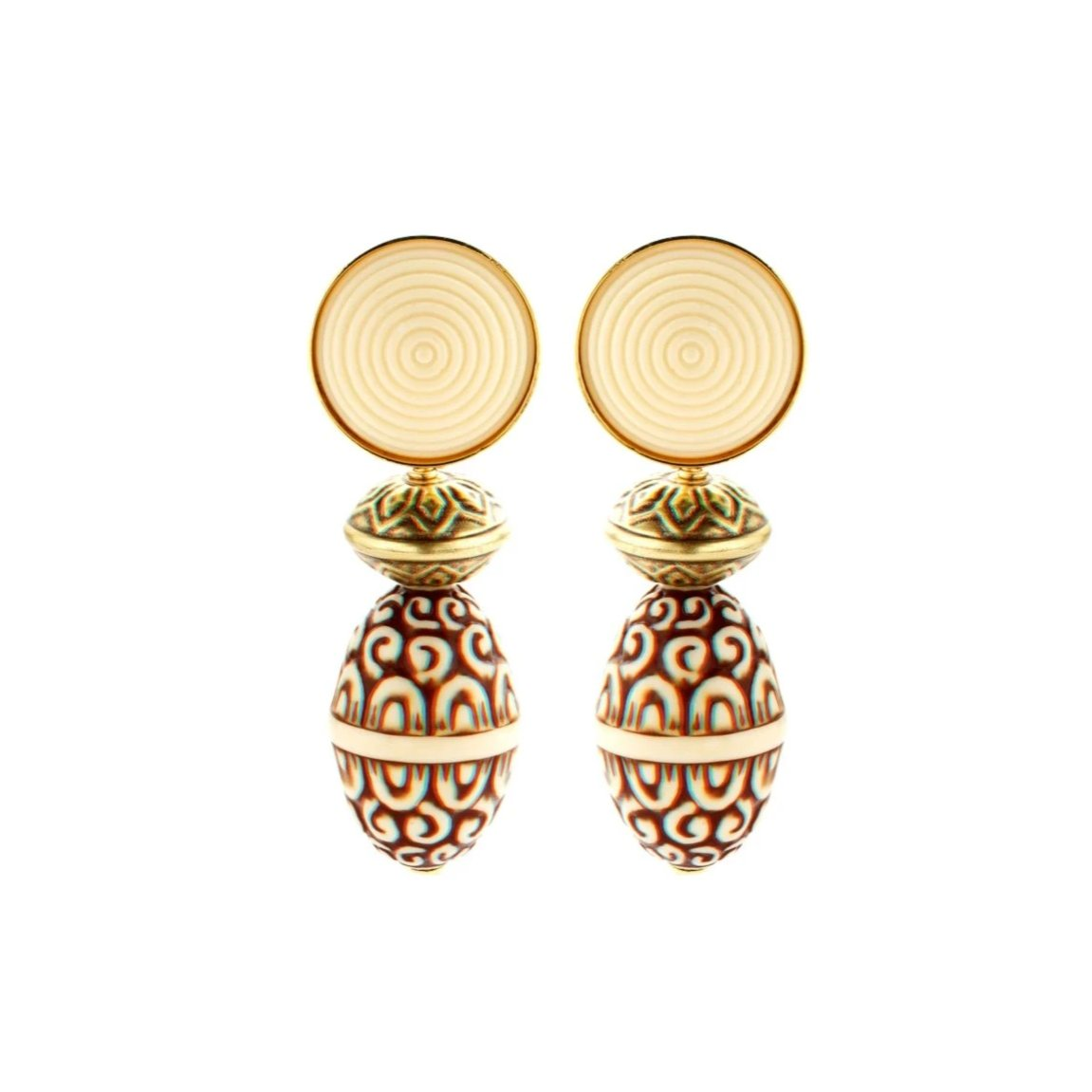 Simply ivory earrings - Souvenirs de Pomme