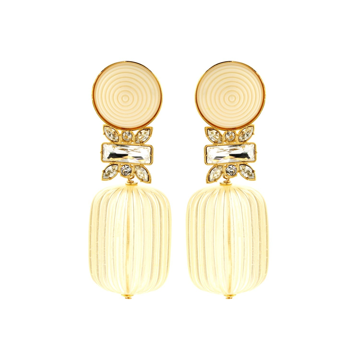 Erica champagne earrings - Souvenirs de Pomme