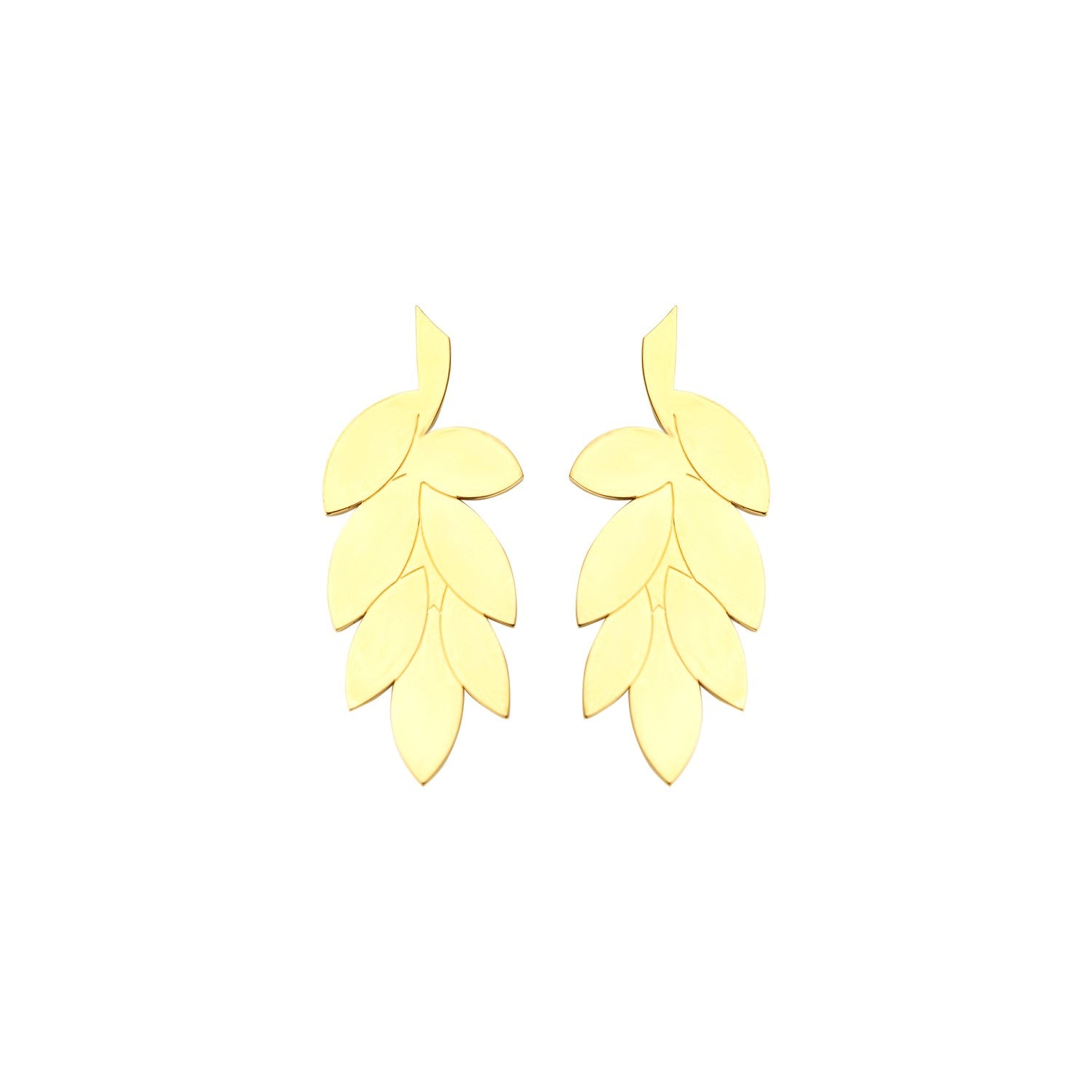PRE-ORDER Lucky wheat gold earrings