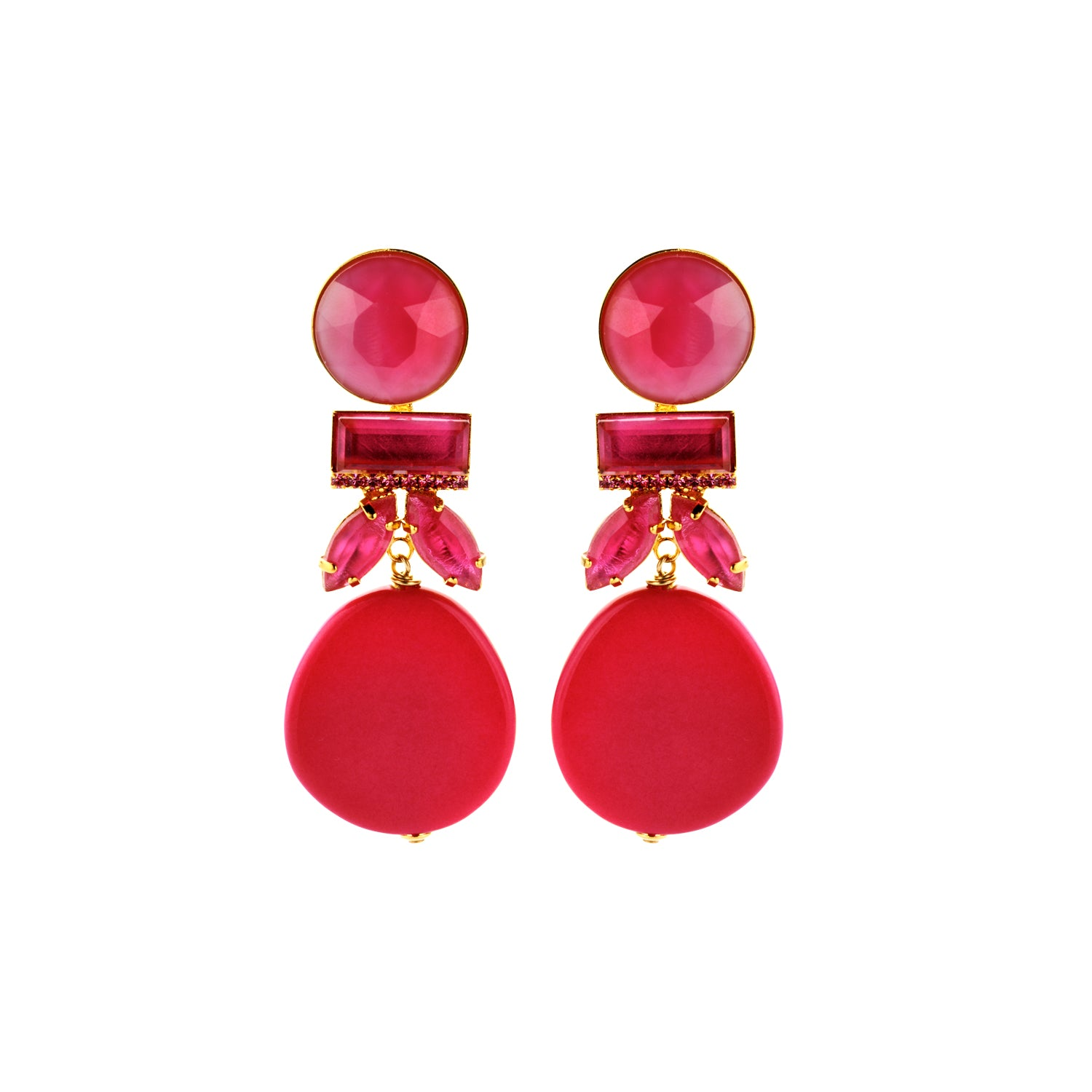 Grace fuchsia earrings - Souvenirs de Pomme