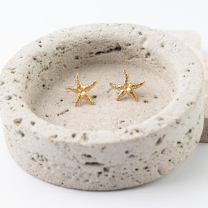 Seastar gold earrings