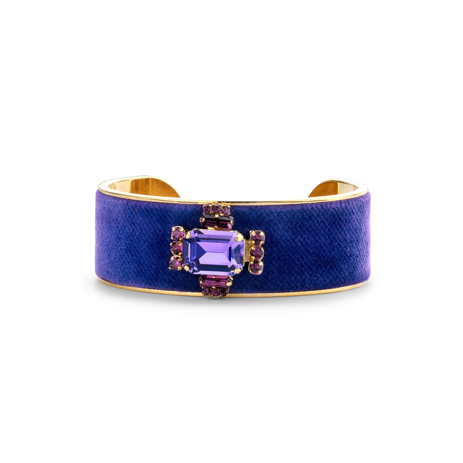 Laura cuff purple velvet