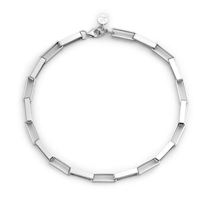 Link medium necklace silver
