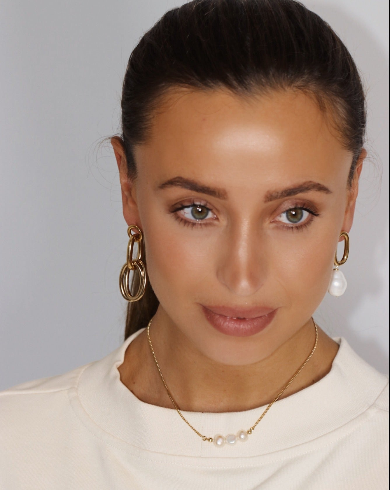 Evi SINGLE gold chain earrings