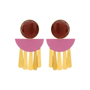 Moonlight bordeaux earrings mix