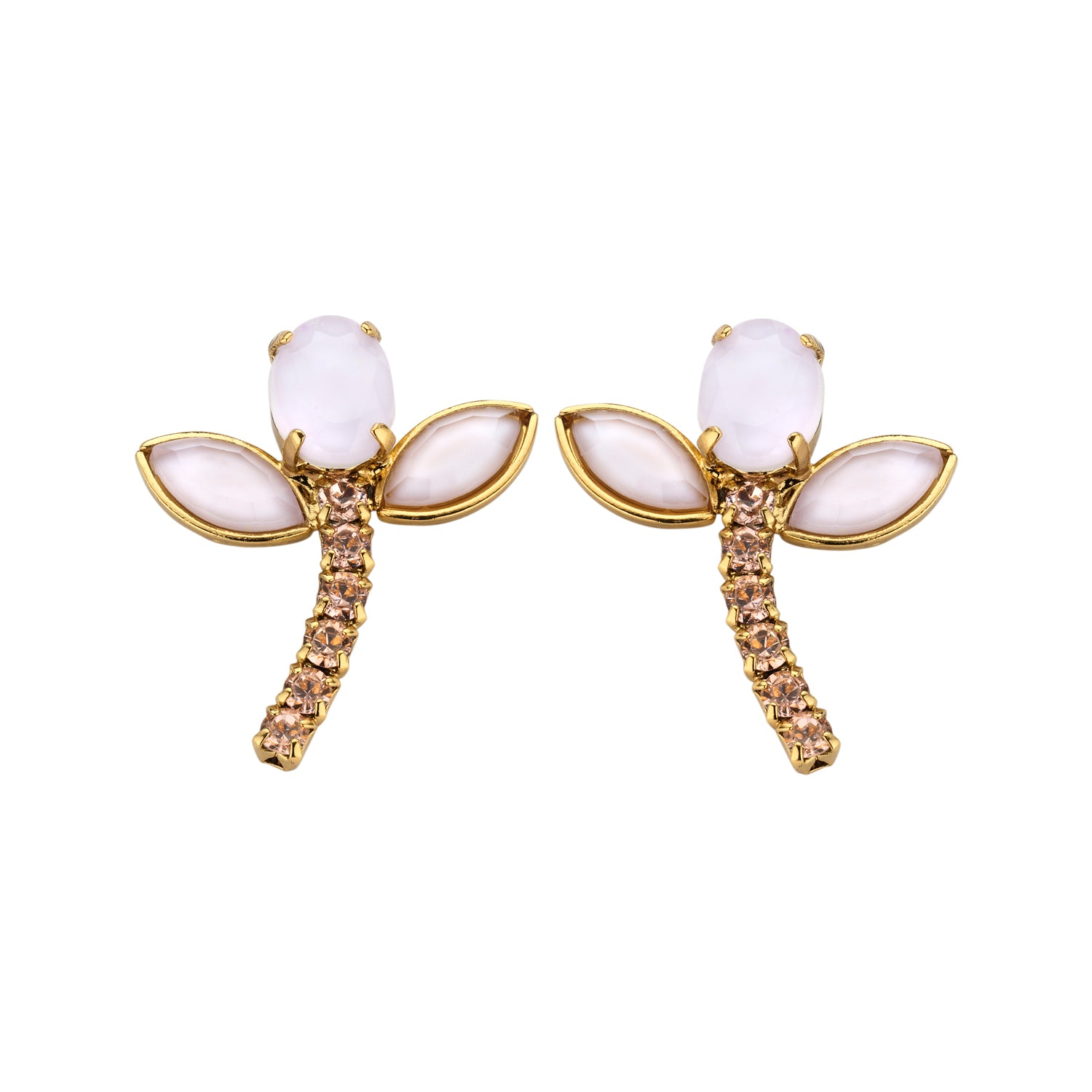 Bridal short earring pink