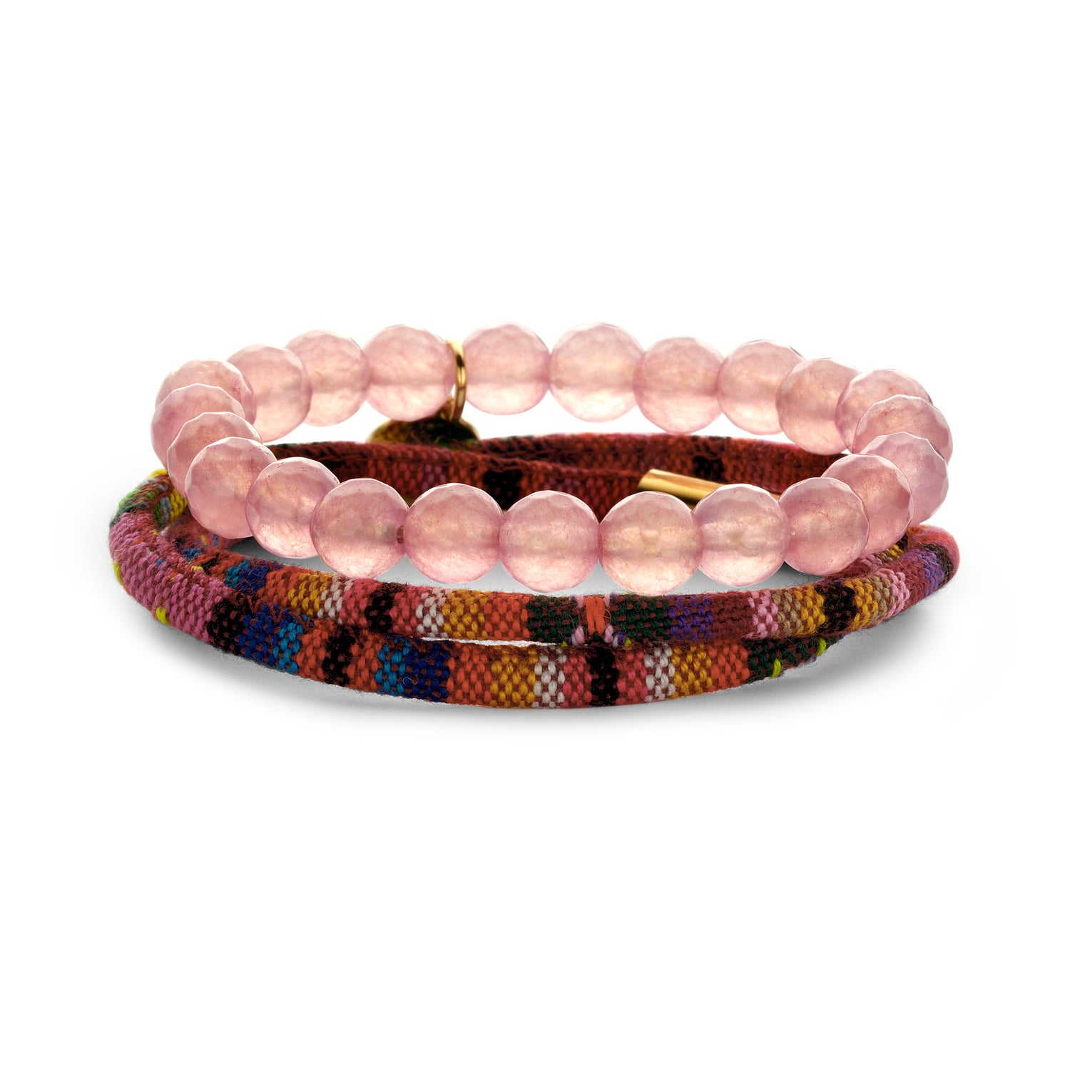 Set Peru Friendship bracelet multirose
