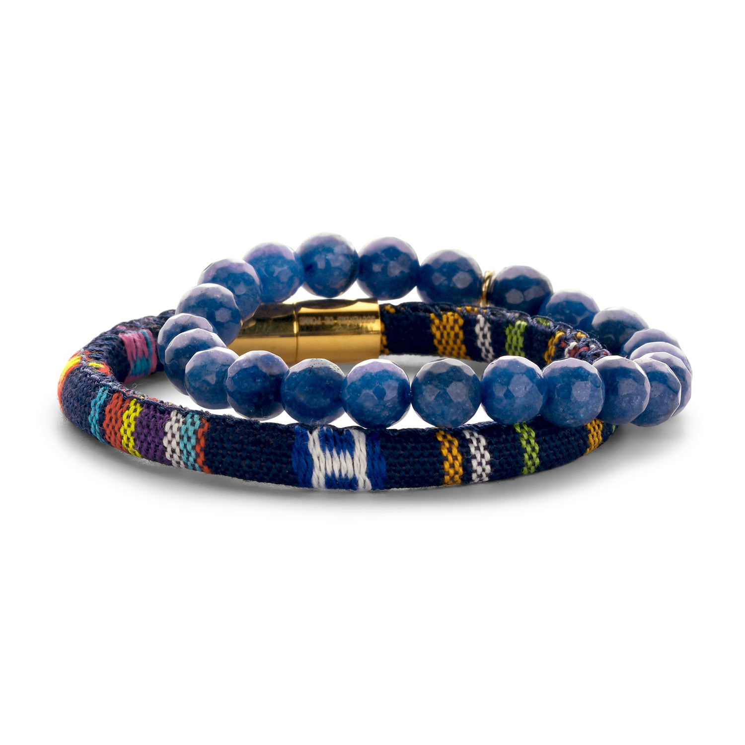 Set Peru Friendship bracelet royal blue