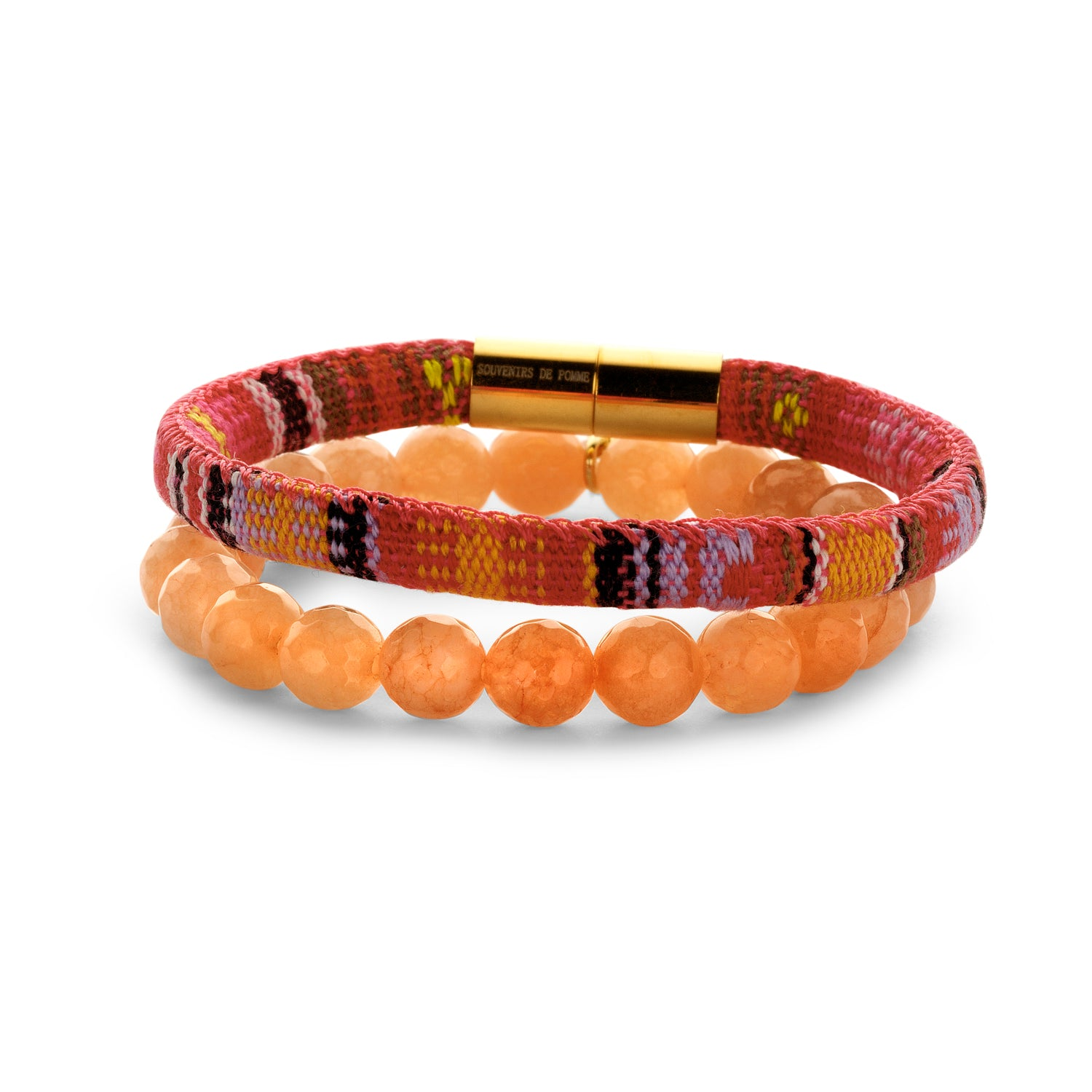 Set Peru Friendship bracelet orange