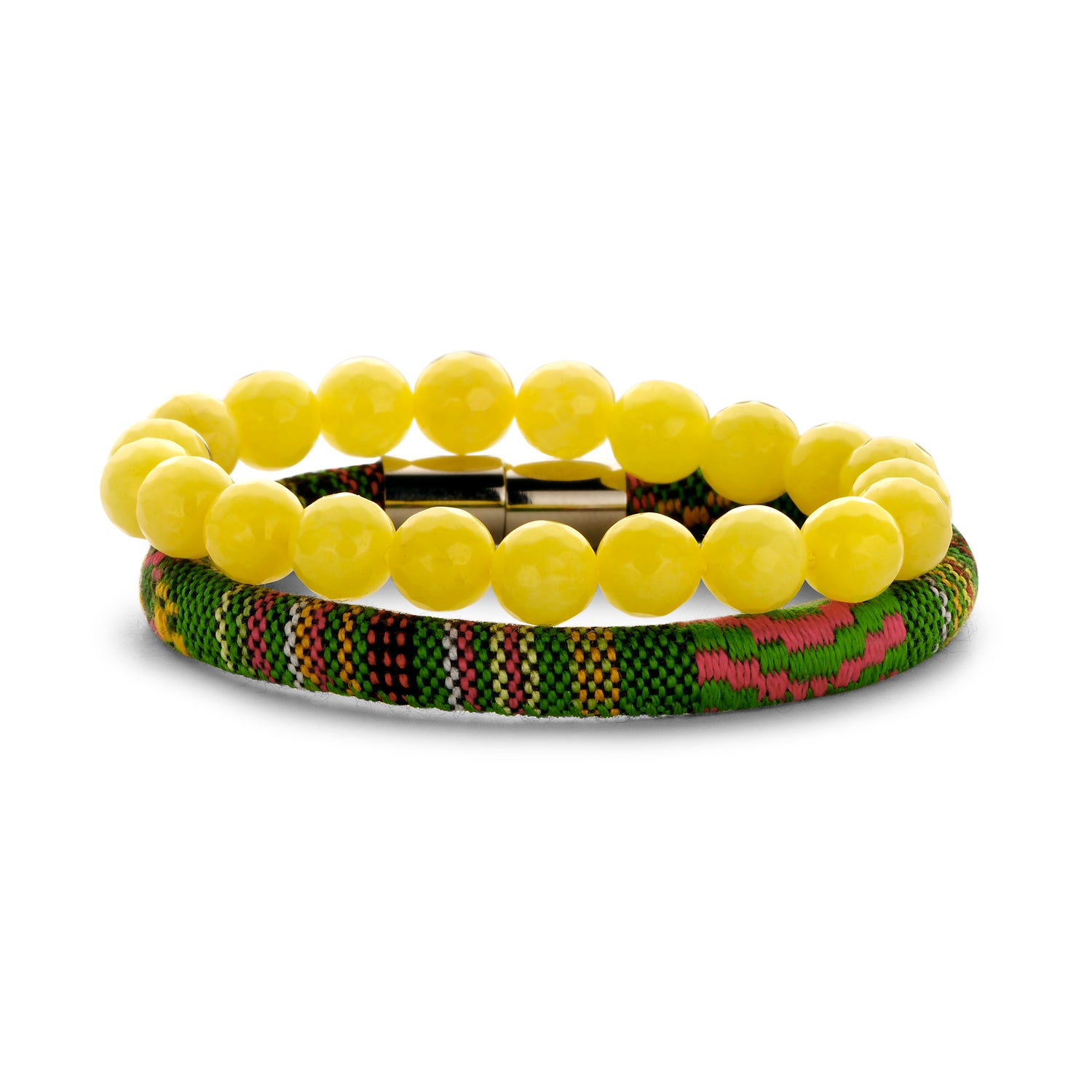 Set Peru Friendship bracelet yellow