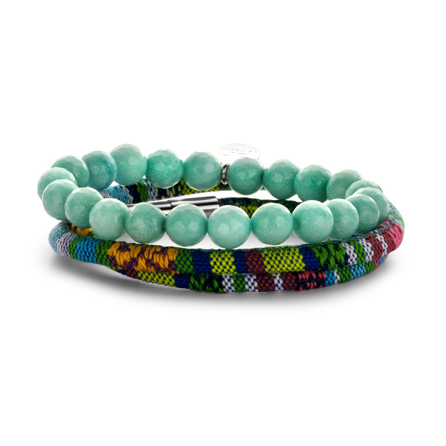 Set Peru Friendship bracelet azur