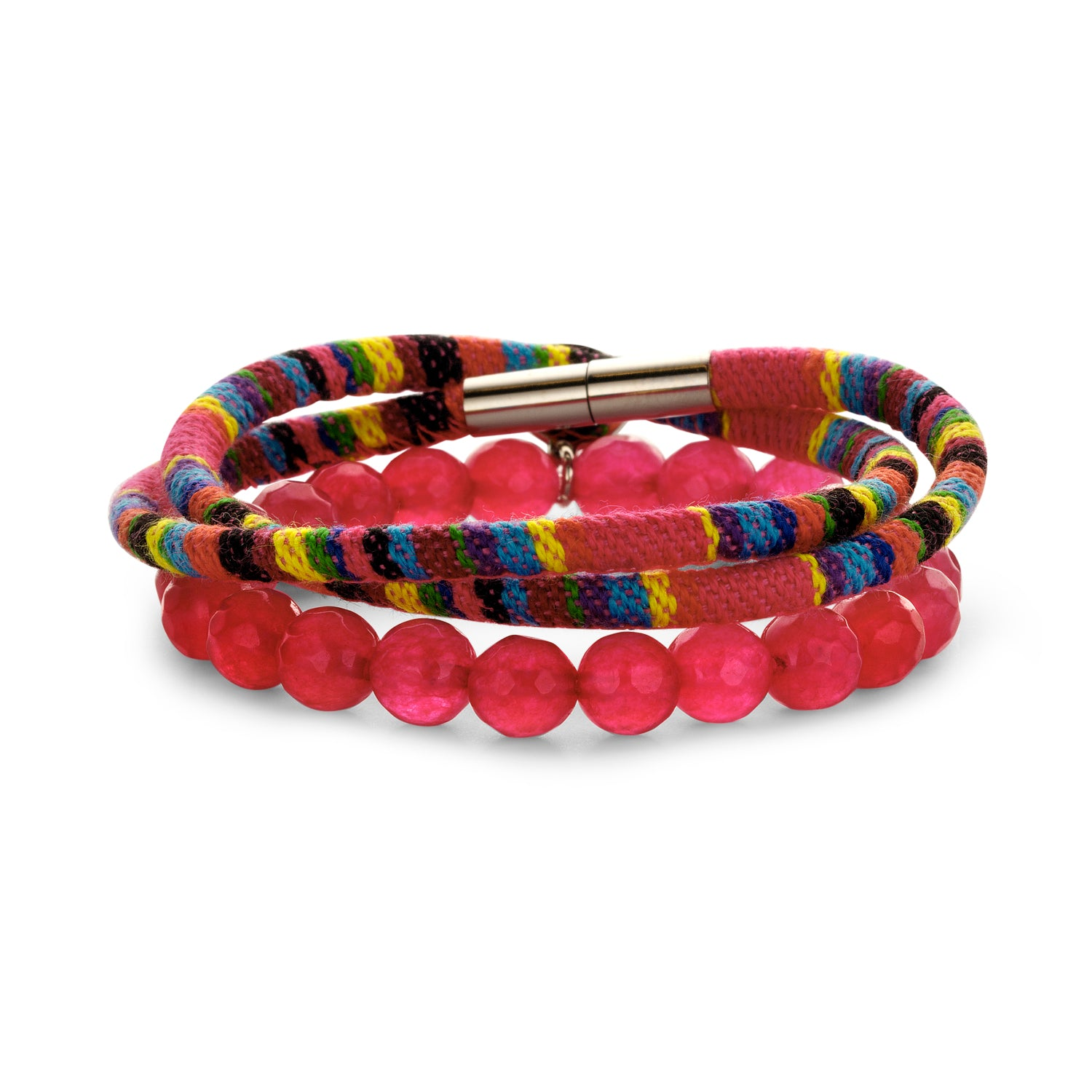 Set Peru Friendship bracelet cherry
