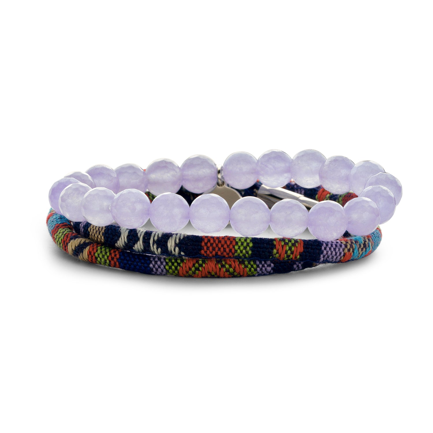 Set Peru Friendship bracelet lilac
