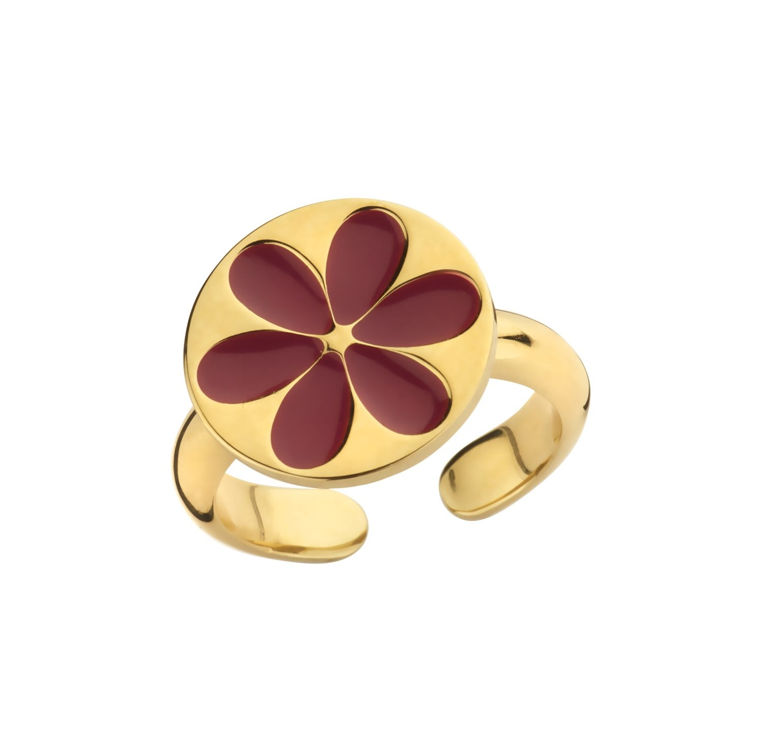 Ring Enamel Cherry