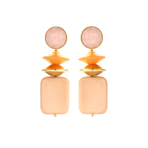 Oceane mix nude earrings - Souvenirs de Pomme
