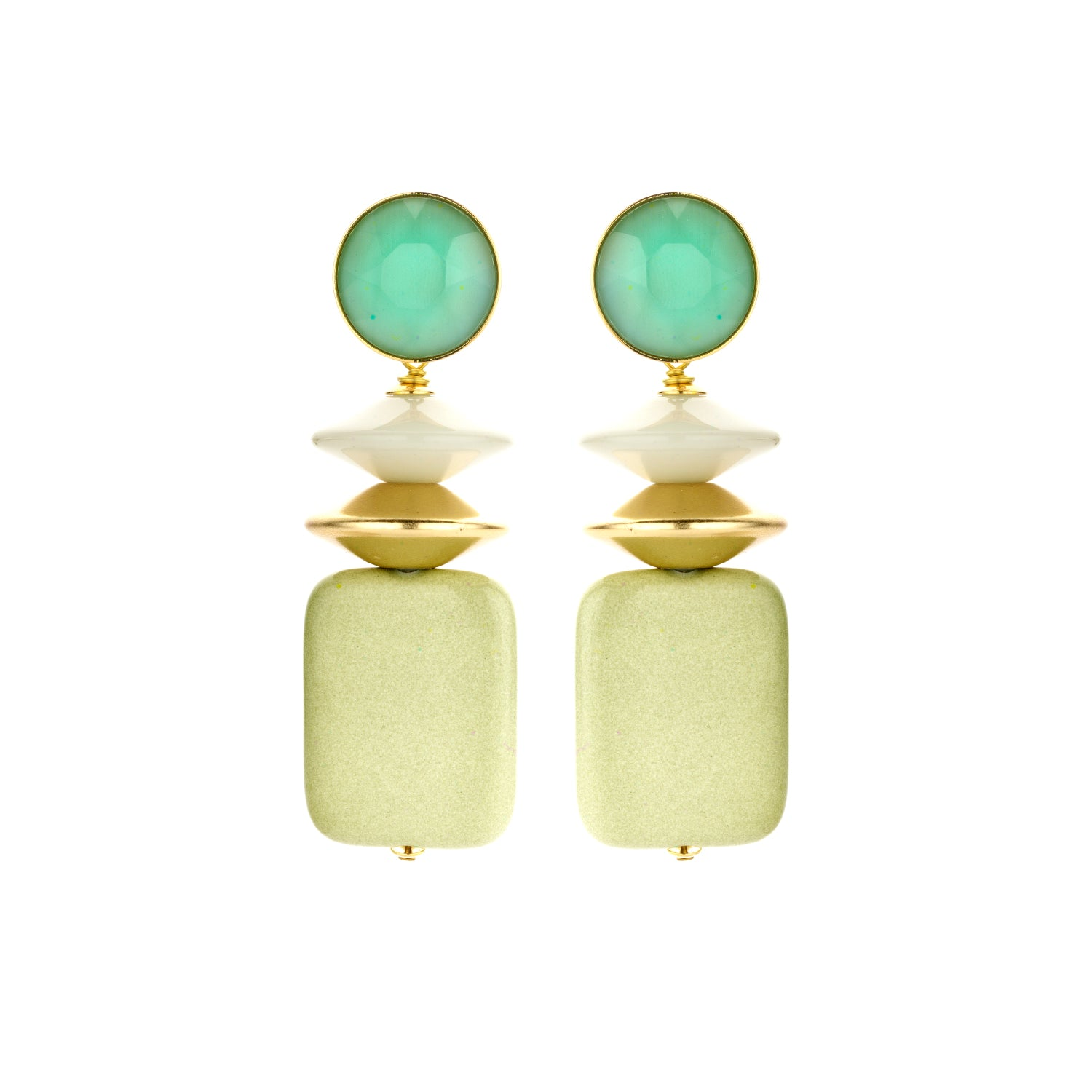 Oceane mix mint earrings - Souvenirs de Pomme