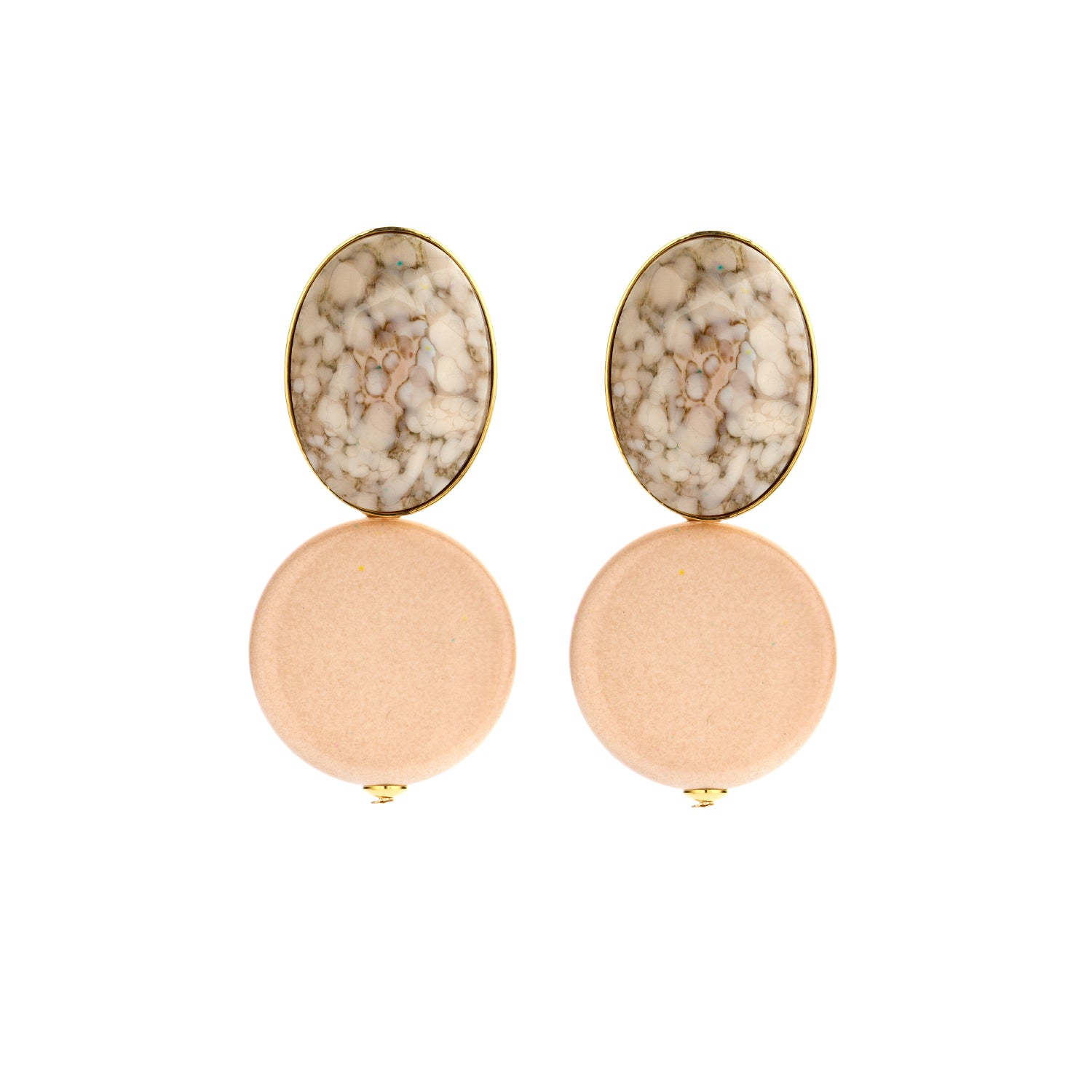 Mona nude earrings - Souvenirs de Pomme