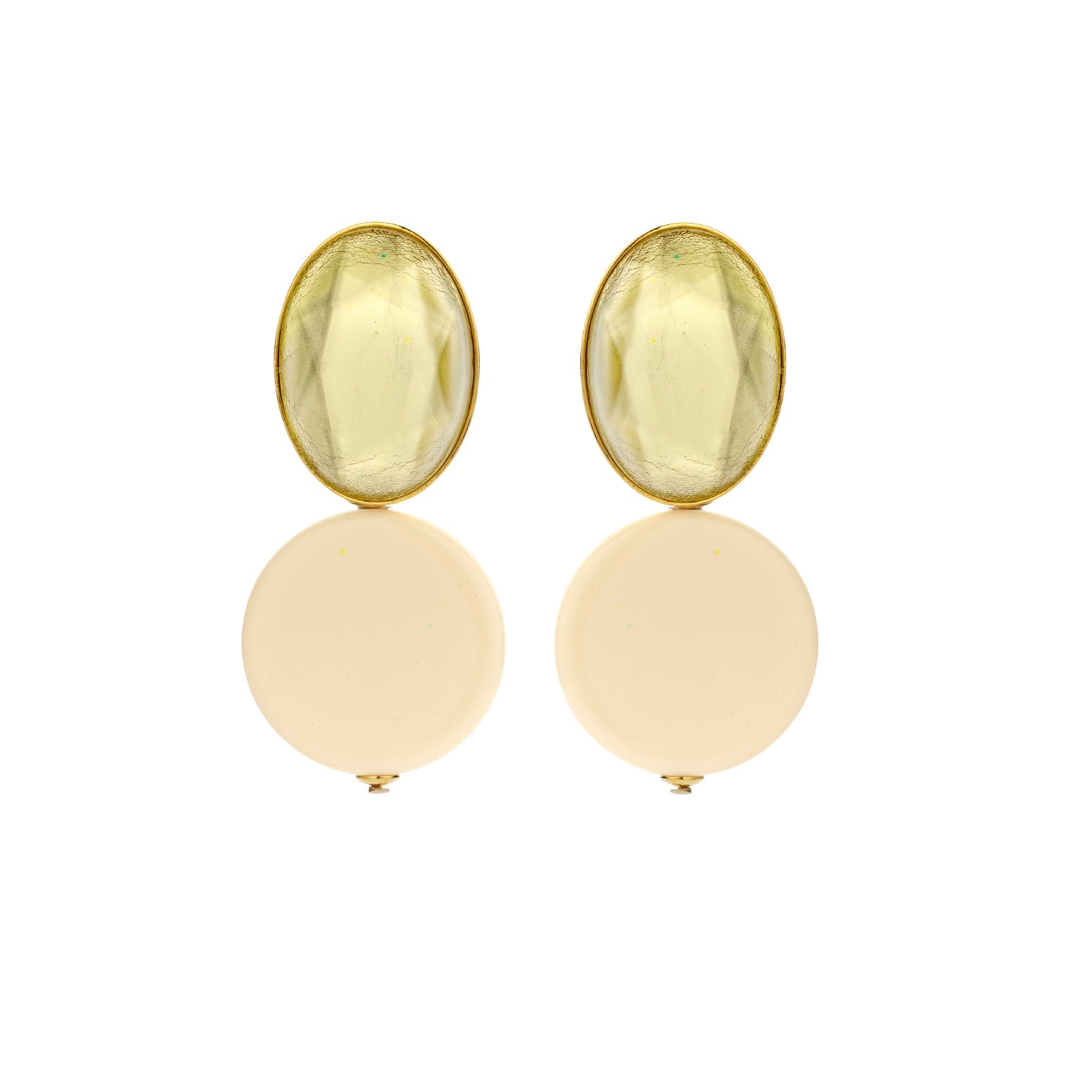 Mona ecru earrings - Souvenirs de Pomme