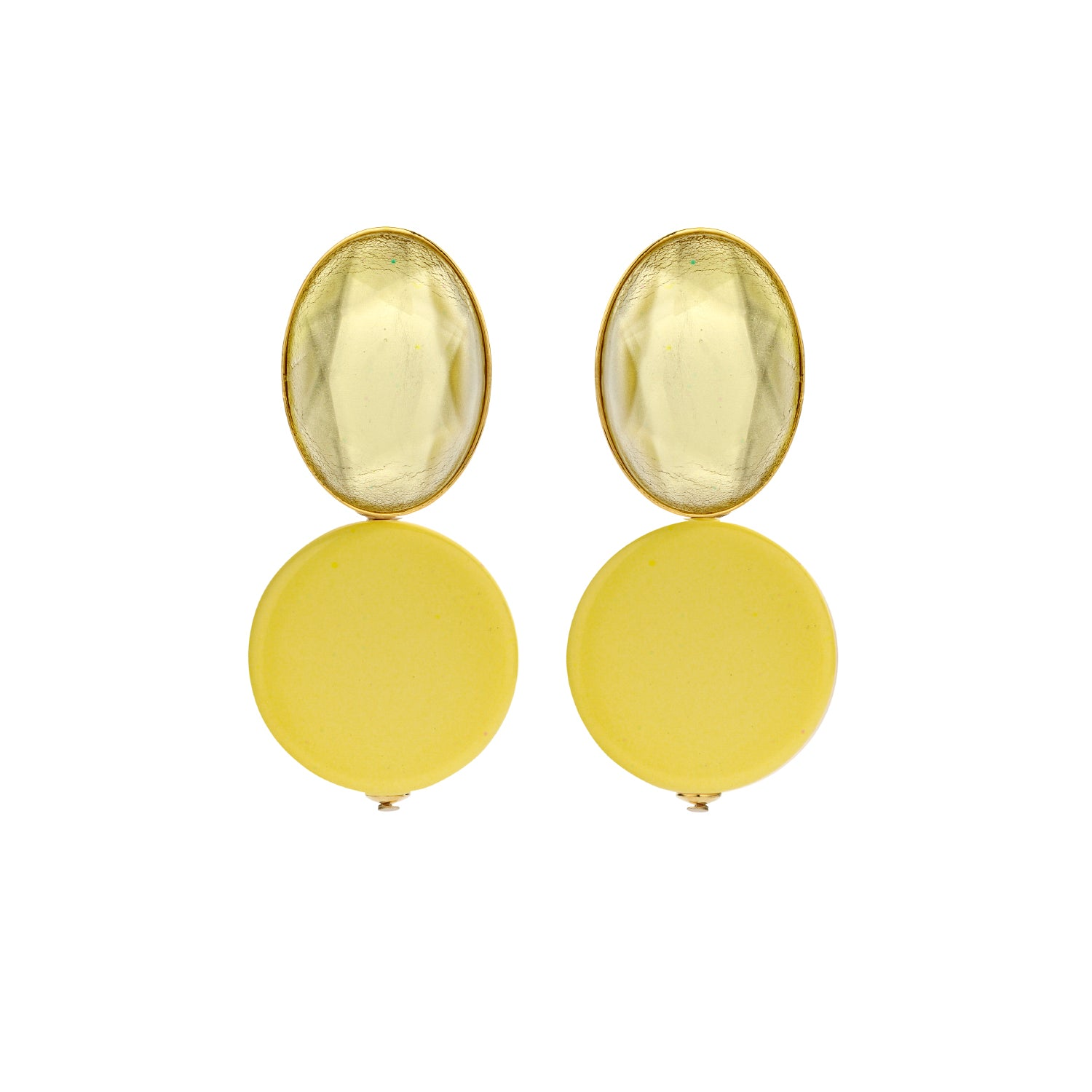 Mona yellow earrings - Souvenirs de Pomme