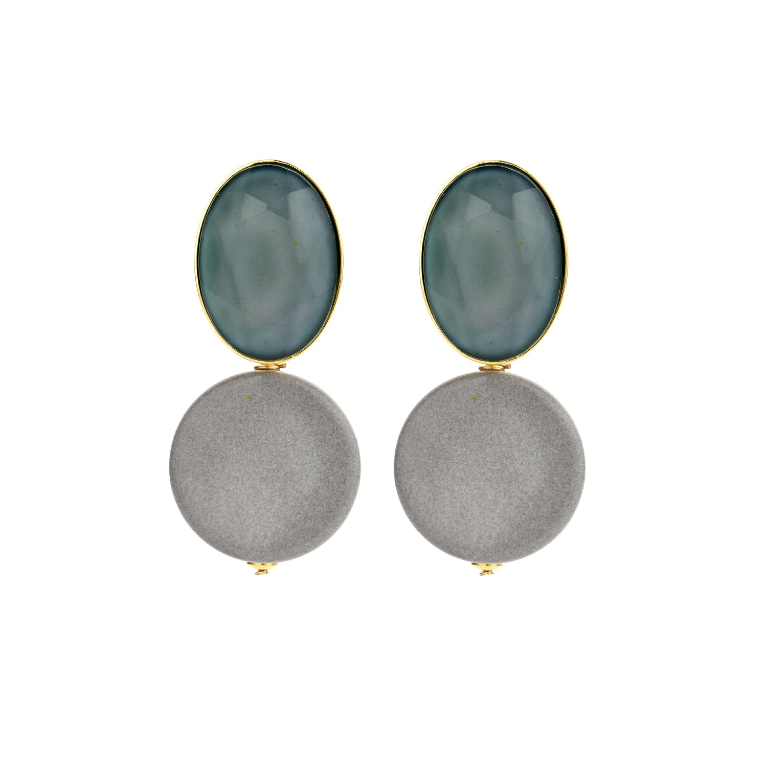 Mona jeans blue earrings - Souvenirs de Pomme