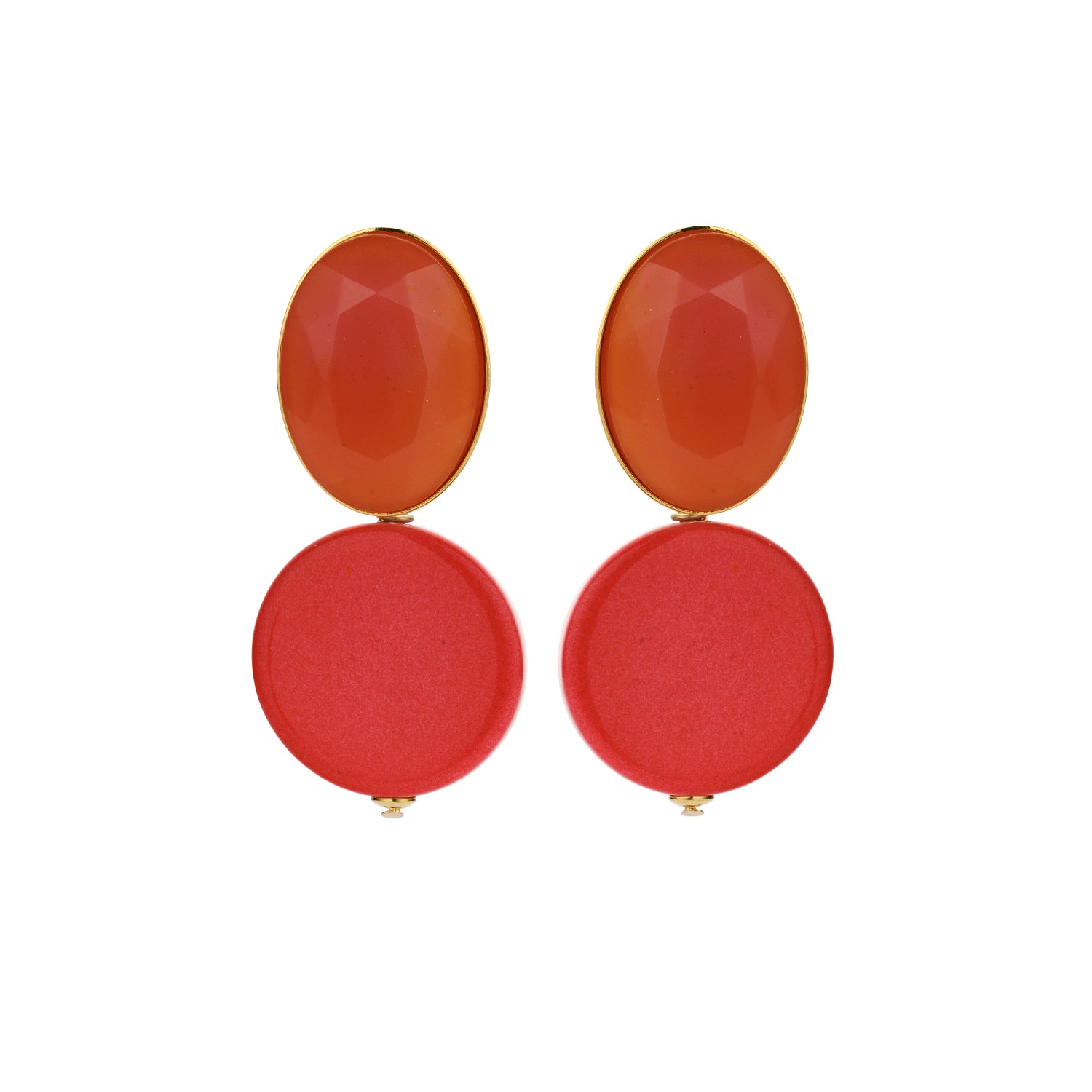 Mona coral earrings - Souvenirs de Pomme