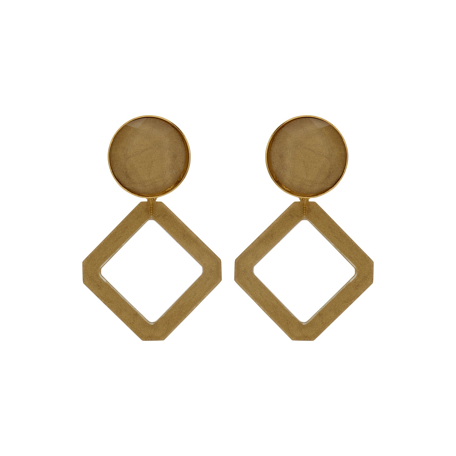 Alice beige earrings - Souvenirs de Pomme