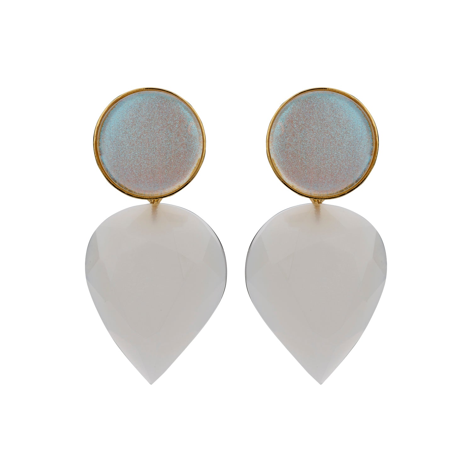 Paola ecru earrings - Souvenirs de Pomme