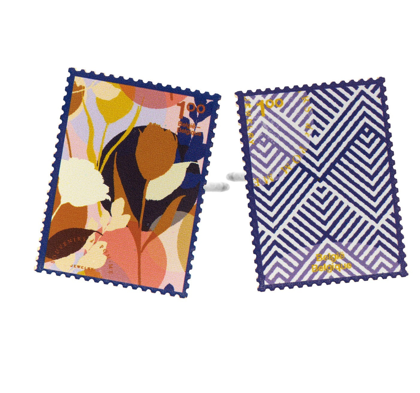 PRE-ORDER Memory stamp navy mix earrings - Souvenirs de Pomme
