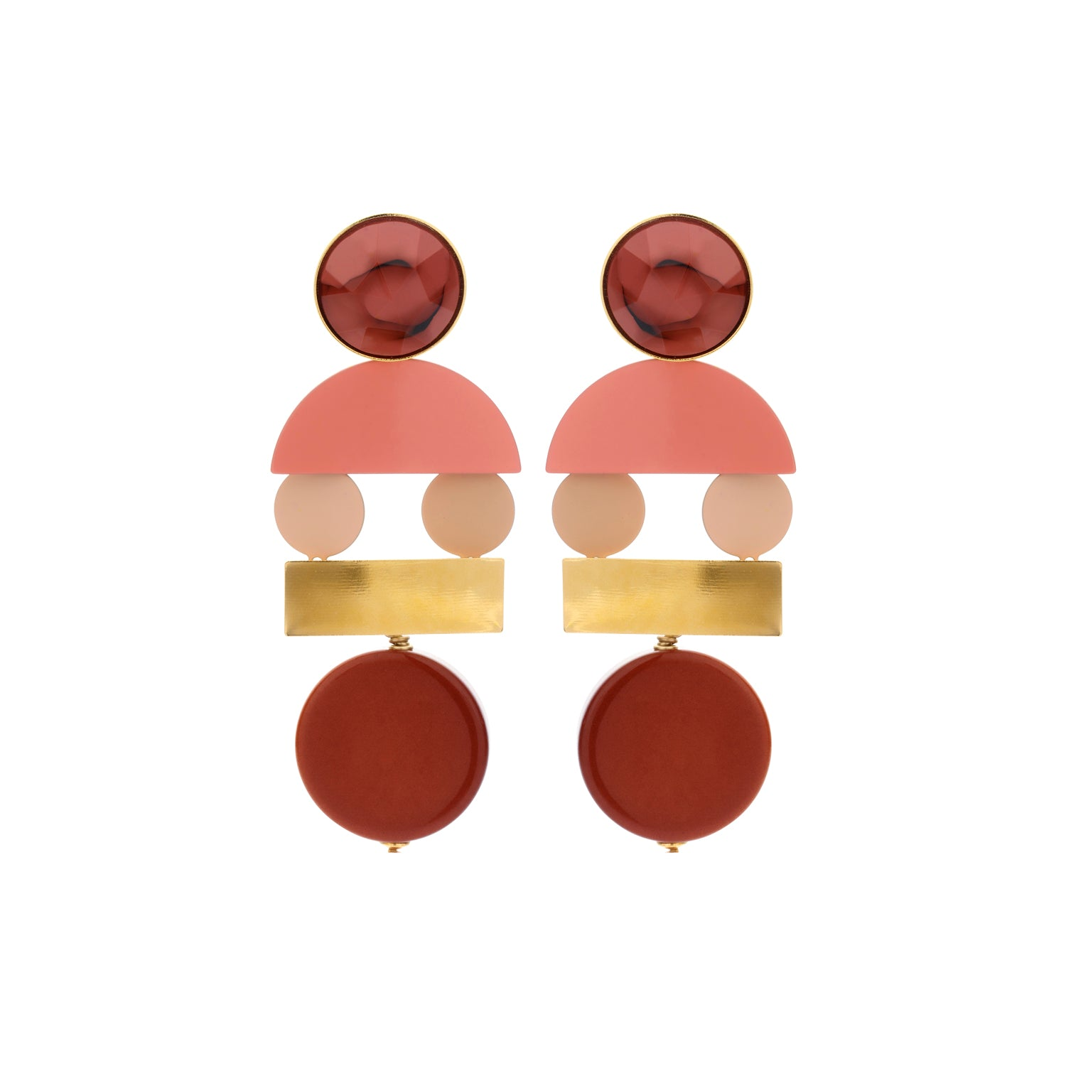 Sandy bordeaux mix earrings