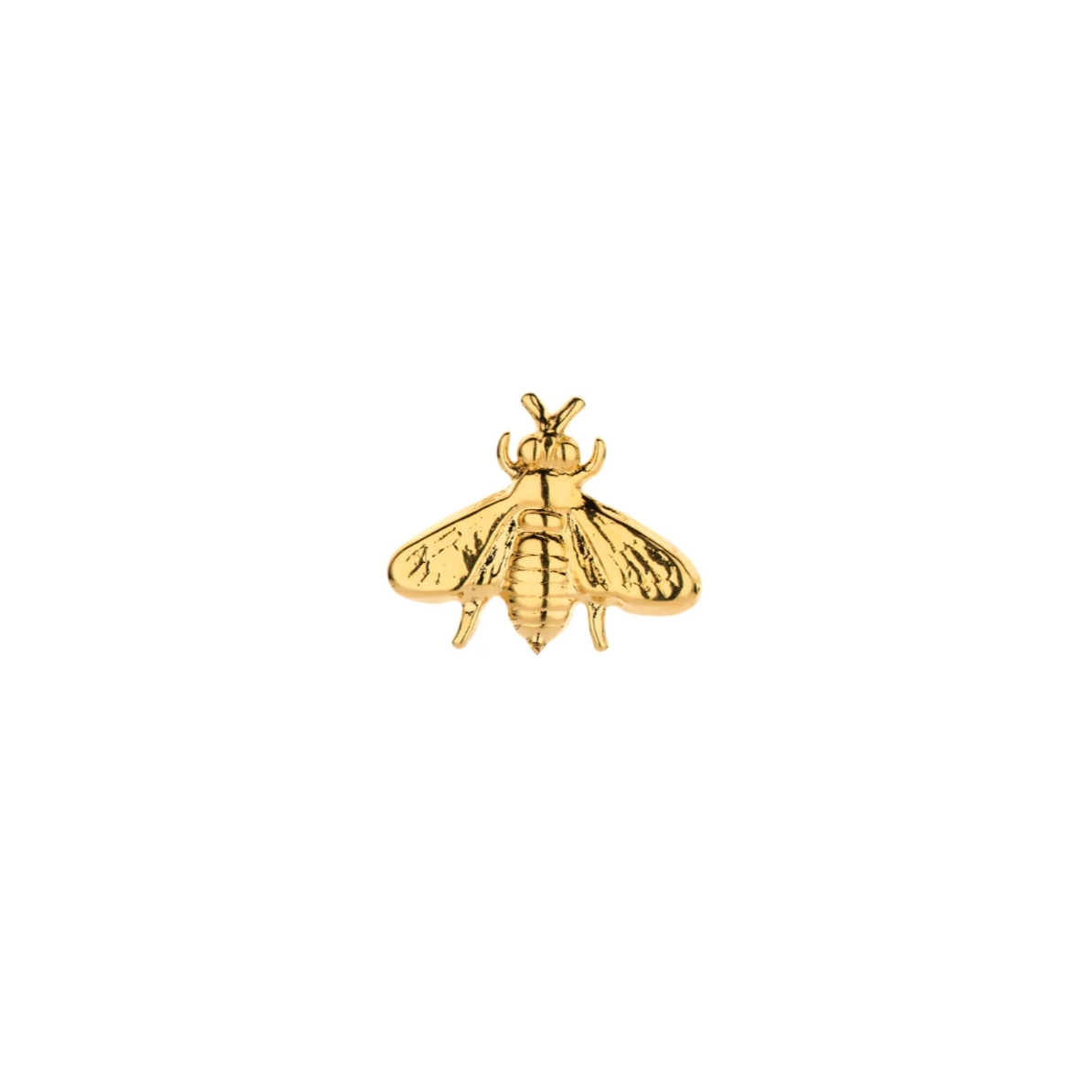 SINGLE Bee shortie gold earring