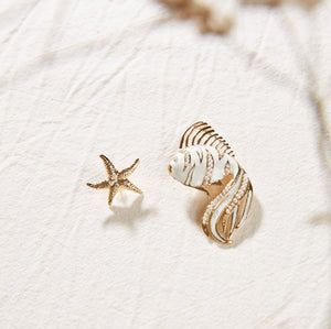 Mermaid cream pearls earrings - Souvenirs de Pomme