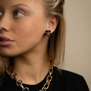 Gina mini shortie earring black