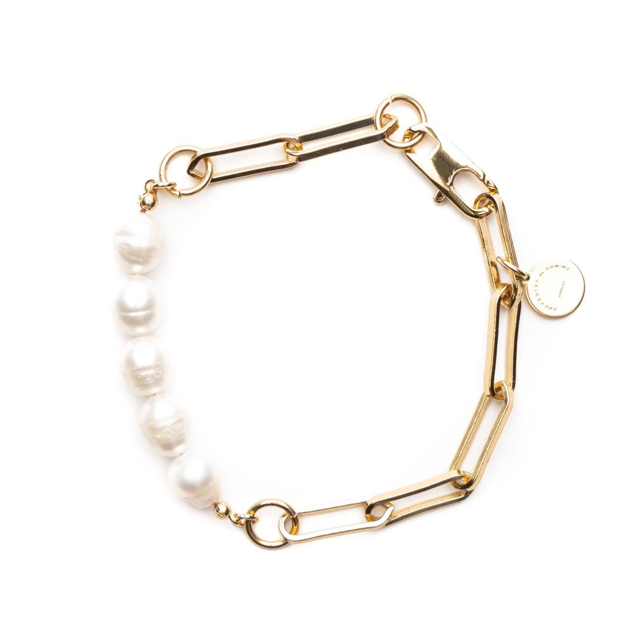 Link small bracelet with pearls