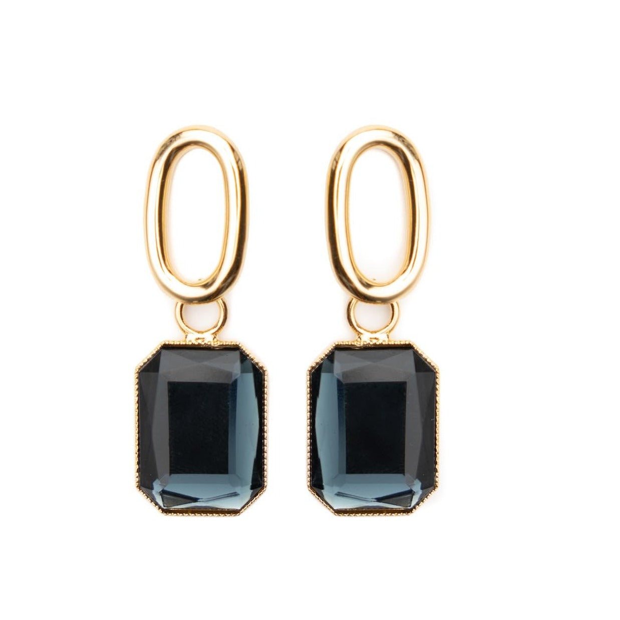 Pippa gold octagon earrings