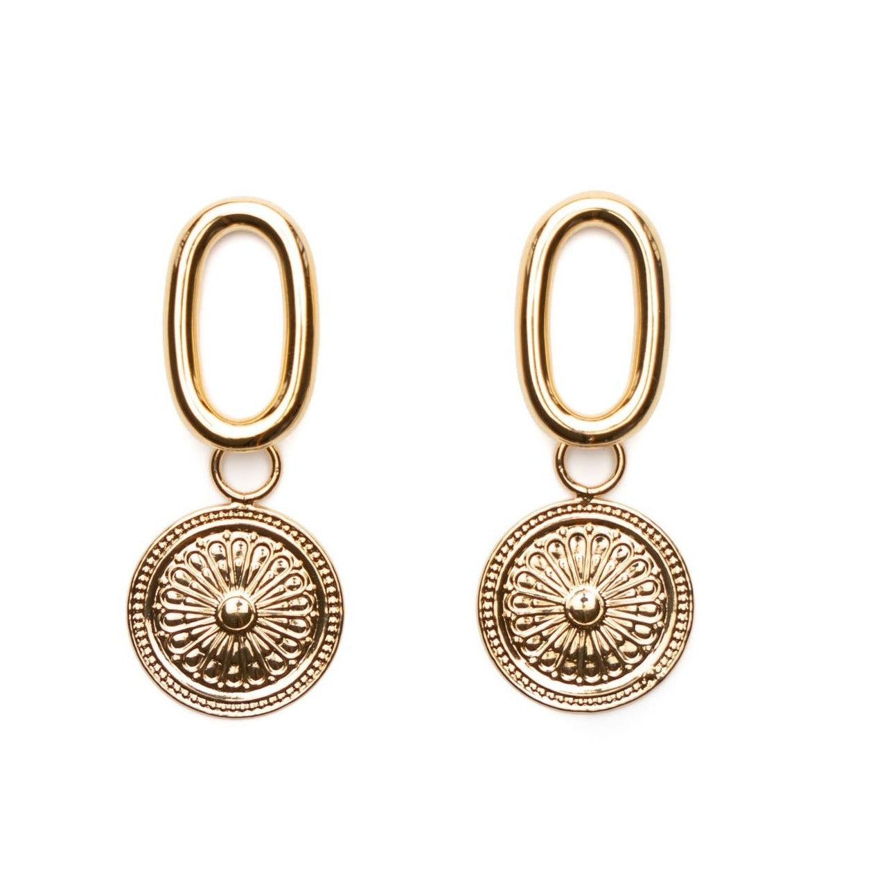 Pippa gold coin earrings
